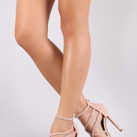 Liliana Crossing Straps Stiletto Heel