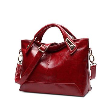 High Quality Oil Wax Leather Shoulder Bags