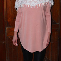 Lovely In Lace Tunic