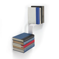 Book Float Wall Shelf in White