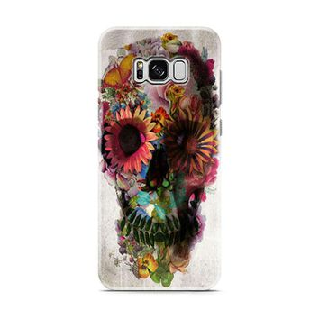 Flower Sugar Skull Pink Day Of The Dead Samsung Galaxy S8 | Galaxy S8 Plus Case