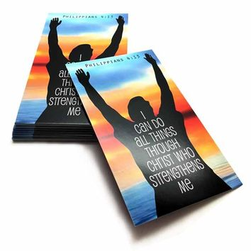 I Can Do All Things Through Christ Inspirational Pocket Card