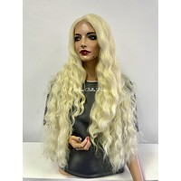 Blond wavy Swiss lace front wig - Pastel |0518