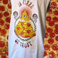 UNISEX All Seeing Eye Pizza Slice Sleeveless T-Shirt // fASHLIN