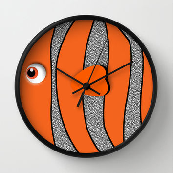 Ornamental Orange Fish Apple iPhone 4 4s 5 5s 5c, ipod, ipad, pillow case and tshirt Wall Clock by Three Second