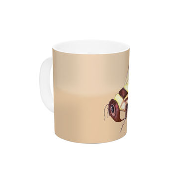 "Catherine Holcombe ""Bee Happy Beige"" Ceramic Coffee Mug"