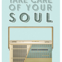 Retro Radio Transistor Mid Century Style Art Print Vintage Poster - A3 on Heavyweight 170g Paper