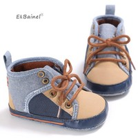 E&Bainel New Baby Boy Shoes Grey Red Color New Born Baby Toddler First Walkers For 0-18 Month Sport Shoes