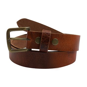 AFONiE 100% Rustic Cowhide Leather Belt