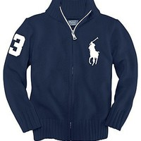 Ralph Lauren Childrenswear Infant Boys' Big Pony Full Zip Sweater - Sizes 9-24 Months - Infant Boy (0-24 months) - BABY - Kids - Bloomingdale's