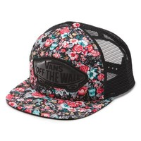 Vans Beach Girl Floral Trucker Hat (Multi Floral Black/True White)