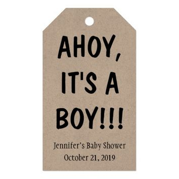 Ahoy It's a Boy Baby Shower Gift Tags