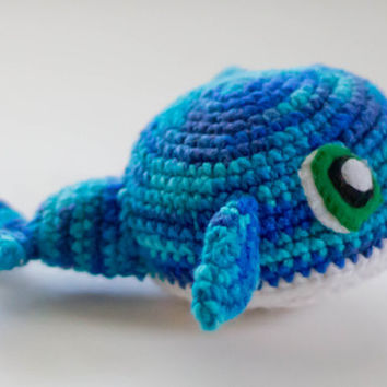 Whale Stuffed Animal... Choose Your Own Colors...Custom Made...Cute Crochet Whale