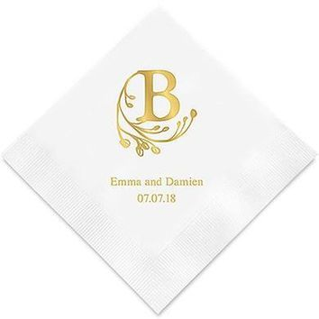 Modern Fairy Tale Initial Printed Paper Napkins (Sets of 80-100)
