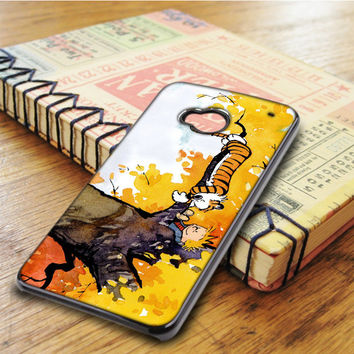 Calvin And Hobbes Cartoon Comic HTC One M7 Case