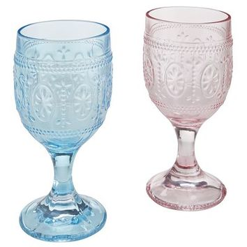 Clara Pressed Glass Goblets