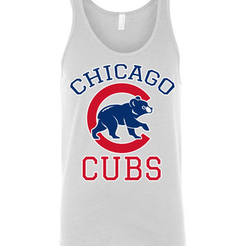 Chicago cubs World series Canvas Unisex Tank Shirt