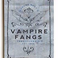 Vampire Fangs Wood Sign