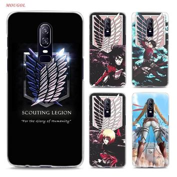 Cool Attack on Titan Transparent Hard Case For Oneplus 6 Anime Japanese  Printing Drawing Hard Phone Cases Cover For Oneplus 6 AT_90_11