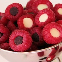 Raspberries with Chocalate filling
