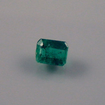 Emerald: 0.46ct Green Emerald Shape Gemstone, Natural Hand Made Faceted Gem, Loose Precious Beryl Mineral, OOAK Crystal Jewelry Supply 20054