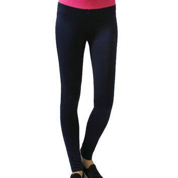 Yoga Leggings W/ Contrast Color Waistband