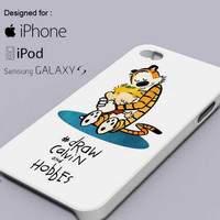 Calvin and Hobbes Drawing For iPhone, Samsung Galaxy S and iPod Cases