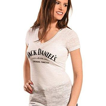 Jack Daniels Women's Daniel's Burnout V-Neck T-Shirt - 15361464Jd-01