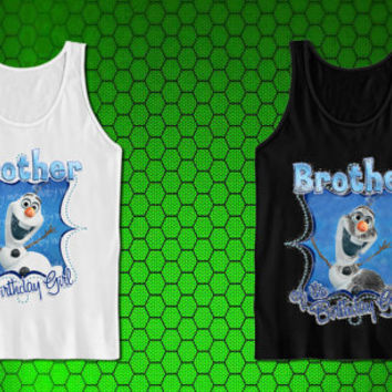 Frozen BROTHER of the Birthday Girl Printable Iron On Transfer for tank top mens and tank top girls