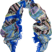 Etro - Printed wool and silk-blend scarf