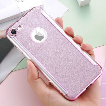 DOEES 3D Diamond Glazed Luxury i 5 5S SE Case For iPhone 7 6 6S Plus Case Cute For iPhone 6 6S Shiny Glitter Women Phone Cover