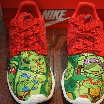 Nike Roshe Run Sport Red TMNT Mutant Ninja Turtles V5 Custom