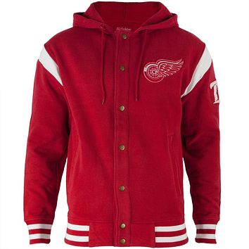 Detroit Red Wings - Logo Stagger Adult Jacket