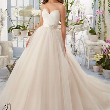 Blu by Mori Lee 5408 Ruched Tulle Ballgown