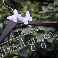 Wedding Hanger Custom Date bridal hanger, bridal gift, Personalized Bridal Gift, brides hanger,name hanger,wedding hanger.