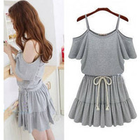 Grey Halter Dress #119
