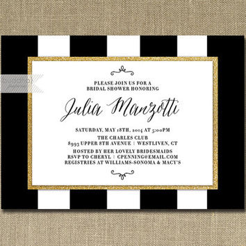 Shop Black And White Bridal Shower Invitations On Wanelo, Bridal Shower  Invitations