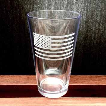 Premium American Flag Pint Glass