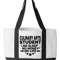 Culinary Arts Student Tote Bag Funny Cook Cooking Student Gift College Majors Chef Degree Chef Student Gift Cooking School Culinary School