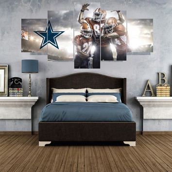 5 Pcs Rugby Football Paintings Dallas Cowboys Modern Home Decor Living Room Bedroom Wall Art Canvas Print Painting Calligraphy