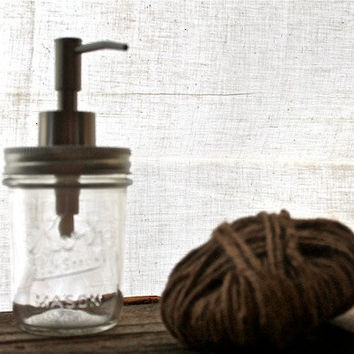 "Mason Jar Soap Dispenser (8oz) ""Margaret"""