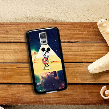 disney Mickey mouse Hipster Triangle Galaxy Samsung Galaxy S5 Case Planetscase.com