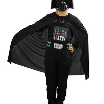 Star Wars Force Episode 1 2 3 4 5 2017 fashion new Chlid  Kids Boy Darth Vader Cosplay Costume Halloween Clothes Darth Vader Costume 4PCS/Set cool AT_72_6