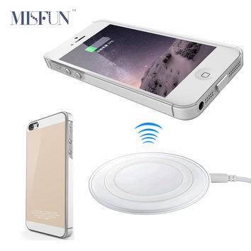 Qi Wireless Charger Pad Dock + Receiver Case for Iphone 5 5S SE / 6 6s / 6 6s Plus Wireless Charging Kit Phone Cover