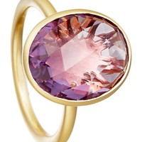 ASTLEY CLARKE - Amethyst Large Oval Stilla 18ct yellow gold-plated ring | Selfridges.com