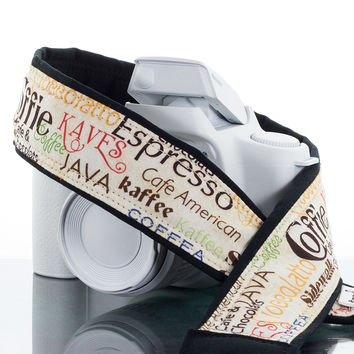 162 Camera Strap Coffee Lovers