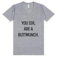 You Sir Are A Buttmunch V-neck T-shirt (idb110409)-T-Shirt