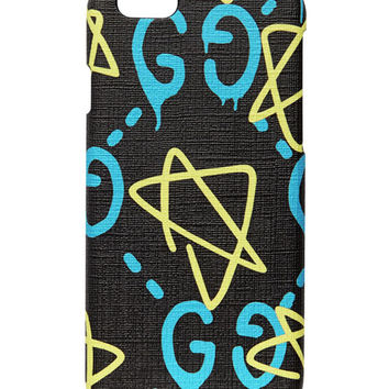 Gucci GG Writers Graffiti iPhone 6/6s Case, Black/Multi