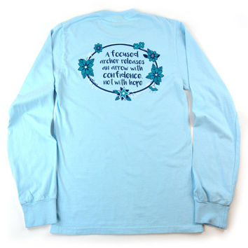 Focused Archer Long Sleeve Pigment Dyed