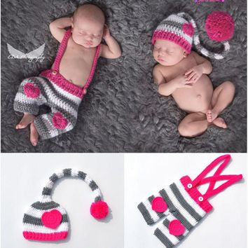 Handmade Newborn Crochet Outfits 2 pc set Photography Prop